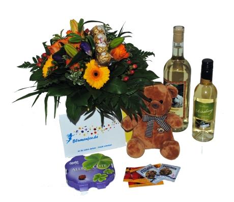 Blumenfee.de liefert einen tollen Blumengruss mit vielen Gratis-Beilagen!