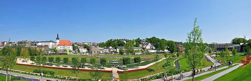 Panorama-Ansicht der Landesgartenschau Reichenbach
